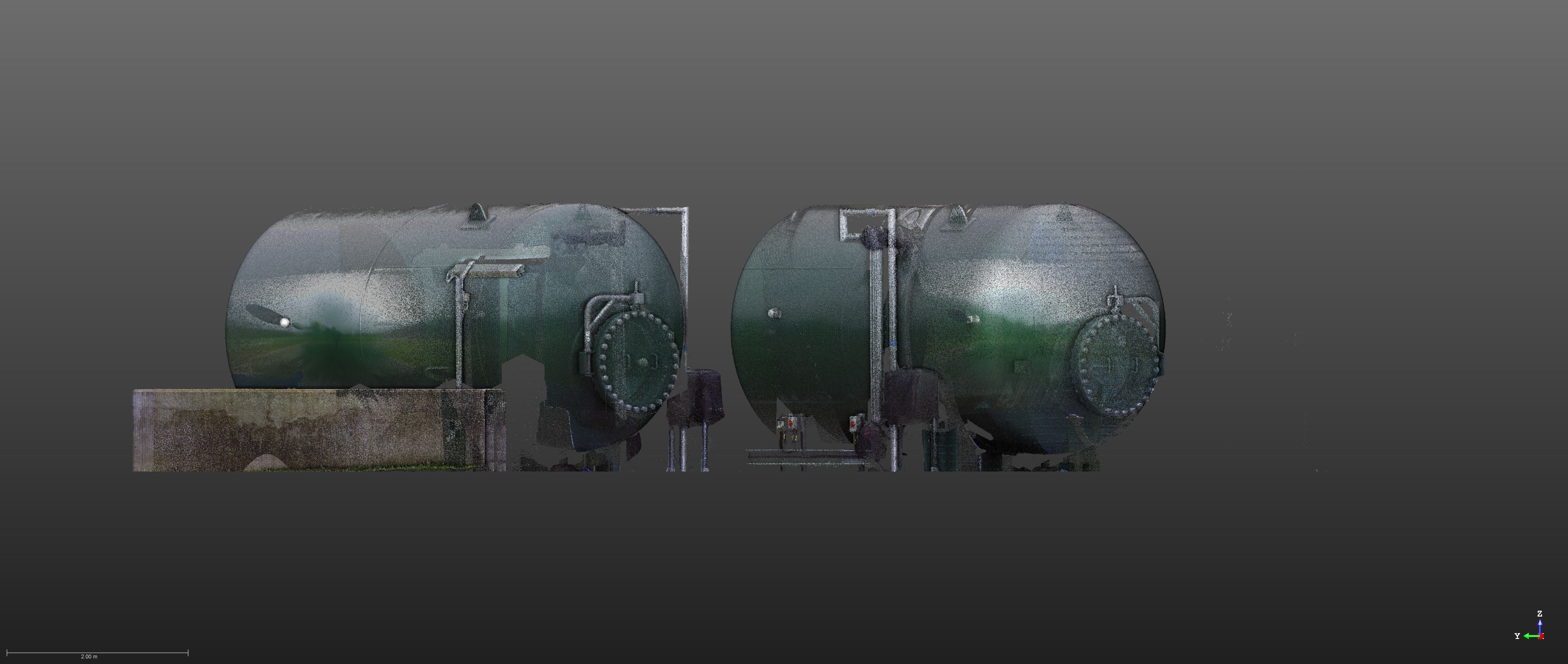 Laser Scan of Surge Tanks